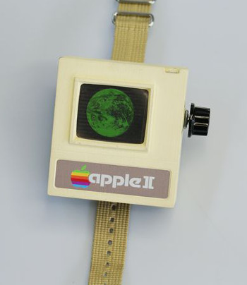 Parody apple II watch available on Instructables