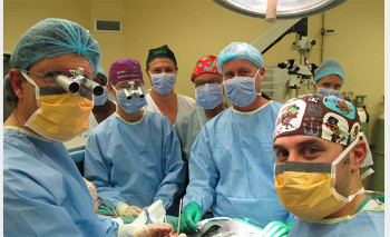 The surgical team during operation