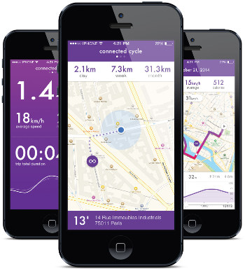 Connected Cycle plan for their app to track calories, route, speed, etc.