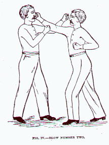 Cartoon of two victorian gentlemen boxing